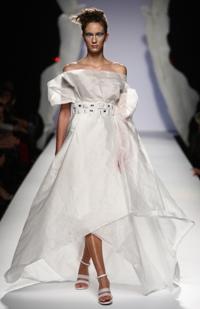 Abito Gattinoni Haute Couture in fibra di mais