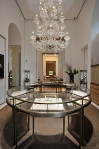 Interno della boutique Cartier a Firenze