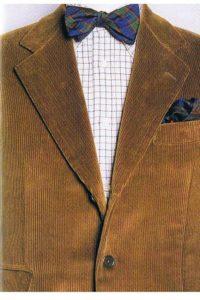 Giacca di velluto con camicia di flanella