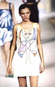 Esther Canadas in abito Balla 1995