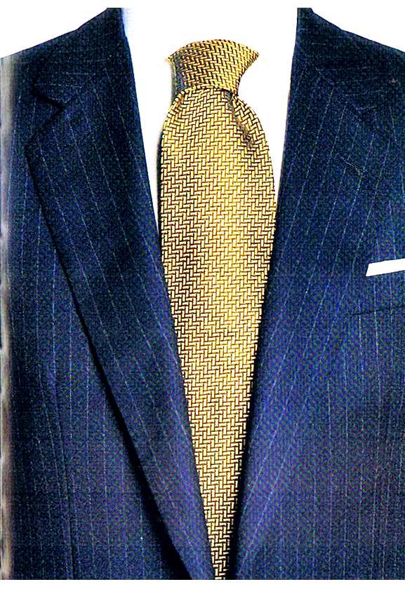 Vestito uomo blu rigato
