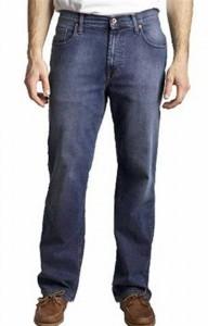 Jaens blu con mocassino stringato marrone