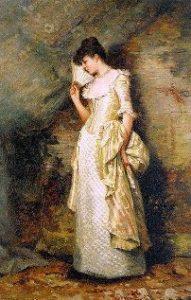 Donna con il ventaglio di H.Hamilton
