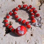 Magie del fuoco - collana in perle di vetro