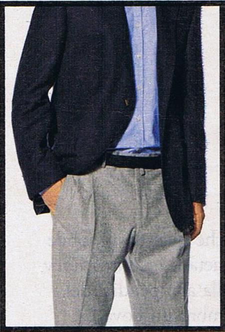 Blazer blu con pantaloni grigi in flanella 6e50683d957