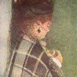 """A. Renoir """"Donna con veletta"""""""