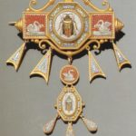 Gioiello da corsetto di fattura romana, 1800