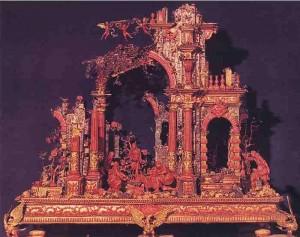 Presepe in corallo-manifattura trapanese XVII secolo