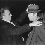F. Fellini e  M.Mastroianni  foto di Tazio Secchiaroli  Credit:  Photomovie