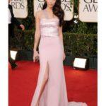 La Fox  in abito Armani Privè disegnato apposta per lei ai Golden Globes di quest'anno