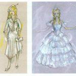 Bozzetti dei costumi di Glinda