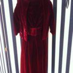 Abito di Christian Dior in velluto rosso - 1950