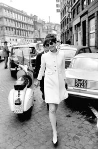 Audrey Hepburn in Rome in 1968.