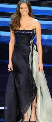 Ivana Mrazova in abito Salvatore Ferragamo