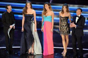 Le vallette e i conduttori di Sanremo 2012