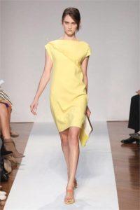 Mila Schon P/E 2012 abito giallo pastello