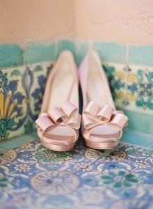 Scarpe rosa cipria