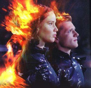 Katniss e Peeta alla sfilata dei Tributi