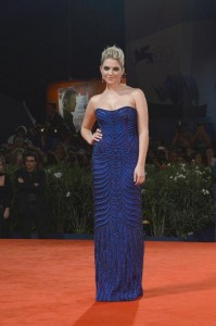Ashley Benson in Alberta Feretti courtesy Ferretti