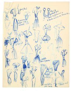 Archivi Grès. Schizzi pe 1956. Collezione Galliera.