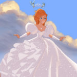 Giselle in abito da sposa