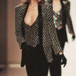 "ARMANI smoking ""Regimental"" Claudia Schiffer (1987/88)"