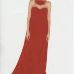VALENTINO abito da sera indossato da Claudia Schiffer (Alta Moda-P/E 1998)