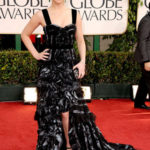 La Lawrence in Louis Vuitton ai Golden Globes 2011