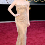 La Chastain in Armani Privè agli Oscar 2013