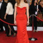 La Chastain in Alexander McQueen ai SAG Awards 2013
