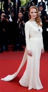 La Chastain in Versace al Festival di Cannes nel 2013