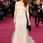 La Stewart in Reem Acra agli Oscar 2013