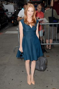 La Chastain in Yves Saint Laurent nel 2012