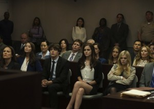 Rebecca, Marc, Nicki e Chloe durante il processo