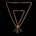 MARQUISE- Big Necklace with pearls and amethyst