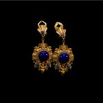 MARQUISE-Earrings with Sapphire