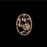 THE AGE OF INNOCENCE-Brooch with diamonds and pearls