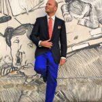 Blazer blu Rubinacci a Pitti 86