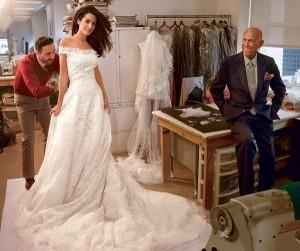 Amal Alumuddin abito di Oscar de la Renta
