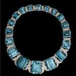 Fulco di Verdura collana di acquamarine e diamanti 1993