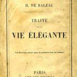 H. de Balzac Traité de la vie élégante - ed. del 1855
