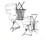 Disegno per Scomposta A/I 1994 courtesy Fondazione Ferré