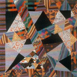 Ottavio Missoni, Arazzo, 1987-88, patchwork di tessuti in maglia