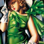 Tamara de Lempicka-Giovane donna con guanti