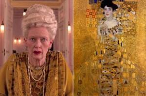 """Madame D a confronto con  il """"Ritratto di Adele Bloch-Bauer I"""" (1907) di Gustav Klimt"""