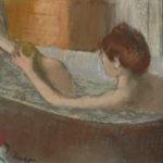 La toilette, naissance de l'intime. Musee Marmottan Monet - Degas Femme dans son bain s'épongeant la jambe, 1883.