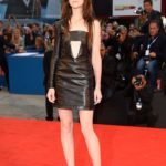 Charlotte Gainsbourg in Anthony Vaccarello al Festival del Cinema di Venezia nel 2014