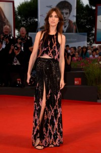 Charlotte Gainsbourg in Louis Vuitton al Festival del Cinema di Venezia nel 2014
