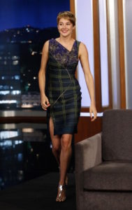 Shailene Woodley In Antonio Berardi - Jimmy Kimmel Live (2014)