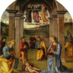 Perugino - L'adorazione del Bambino